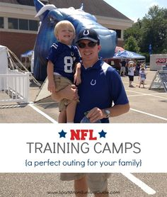 Head to one of the NFL training camps for a great day of free family fun! The kids will love getting up close to the players and the entertainment! Find dates and times for the team near you! #sports #football #familyfun