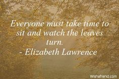 Everyone must take time to, Elizabeth Lawrence Quote