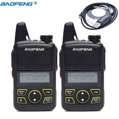 2 PCS BAOFENG T1 MINI Two Way Radio BF-T1 Walkie Talkie UHF 400-470mhz 20CH Portable Ham FM CB Radio Handheld Transceiver+cable Review Portable Ham Radio, Two Way Radio, Walkie Talkie, Talk To Me, Flashlight, Mini, Cable, Cabo, Electrical Cable