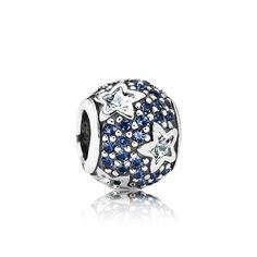 Pandora Midnight Blue Pavé Stars Charm 791382CZ | John Greed Jewellery