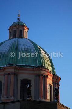 Dome of the Church of Saint Francis Seraph on the Krizovnicke Square, Prague, Czech Republic - Josef Fojtik Photography Saint Francis, Prague Czech, Czech Republic, Taj Mahal, Saints, Gallery, Building, Pictures, Photography