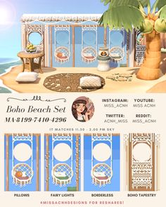 Animal Crossing Town Tune, Animal Crossing Wild World, Animal Crossing Guide, Animal Crossing Qr Codes Clothes, Standee Design, Ac New Leaf, Motifs Animal, Am Meer, Photoshop