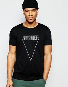 ASOS T-Shirt With Nuisance Triangle Print