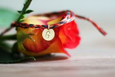 Personalised Bracelets – Hand Stamped Initial/German Flag/World Cup Lucky – a unique product by Jewel-and-Wool on DaWanda