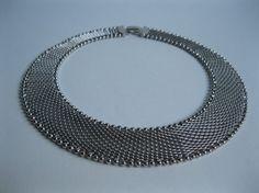 1980s Mesh Collar Necklace #vintage #mesh #collar #necklace #choker #1980s #ballbearing #etsy