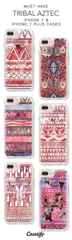 Must Have Tribal Aztec iPhone 7 Cases & iPhone 7 Plus Cases. More protective liquid glitter pattern iPhone case here >https://www.casetify.com/en_US/collections/iphone-7-glitter-cases#/?vc=AkM1cIb7Tn