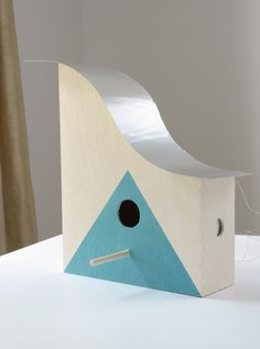 IKEA Hack: DIY Knuff Magazine File Birdhouse