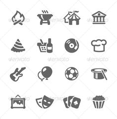 Event Icons — Vector EPS #balloon #disco • Available here → https://graphicriver.net/item/event-icons/7628096?ref=pxcr