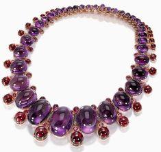 de Grisogono Cabochon Amethyst, Cabochon Rubellite and Sapphire Necklace
