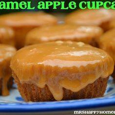 Caramel Apple Cupcakes Recipe - Mrs Happy Homemaker & ZipList
