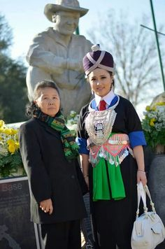 Traditional hmong xiengkhouang outfit hmong clothes Hmong Clothing, Traditional Clothes, Asian Fashion, Stitches, Vibrant Colors, Harajuku, Pattern, Dress, Design