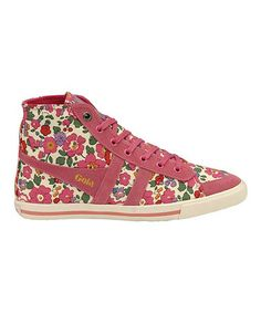 Take a look at this Raspberry Floral Quota Betsy Hi-Top Sneaker - Women by Gola on #zulily today! $47 !!