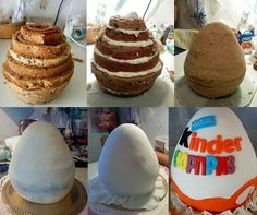 Kinder Surprise Egg Cake....Wow, would love to try and make this for Alexander he loves Kinder Surprise....