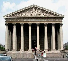 Le Madeleine in Paris, designed by Vignon- in square across from Ralph Lauren