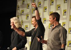Actors Billy Connolly Sean Patrick Flanery and Norman Reedus attend 'Boondock Saints II All Saints Day' panel discussion at ComicCon 2009 held at San...