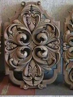 Leather Tooling Patterns, Classical Elements, Wooden Words, Metal Engraving, Carving Designs, Clay Design, Barbie Furniture, Wood Sculpture, Pattern Art