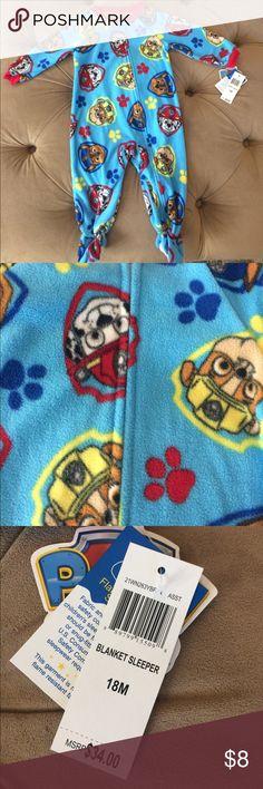 Infant Fleece Footie Paw Patrol Pajamas Nickelodeon Paw Patrol Footie Pajamas - fleece. Size 18 months Nickelodeon Pajamas