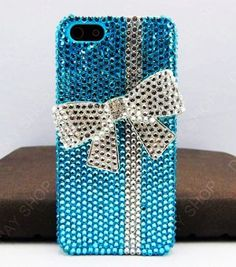 Check out LoveItSoMuch.com to discover unique products like Blue Glitter iPhone 5/4S/4 Case - Bow Glitter iPhone 5 Case.