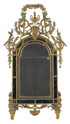 An Italian carved giltwood mirror, Piedmontese, late 18th/early 19th century.
