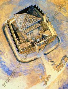 """""""A reconstruction of the Late Roman watchtower near Heumen."""""""