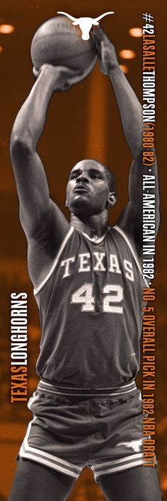 No. 42 LaSalle Thompson (1980-82); All-American in 1982; No. 5 overall pick in 1982 NBA Draft