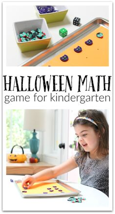Great Halloween math game kindergarten no time for flash cards - easily adaptable for other seasons or generic Preschool Behavior, Kindergarten Math Games, Preschool Lessons, Math Activities, Preschool Activities, Kindergarten Classroom, Teaching Math, Halloween Math, Halloween Activities