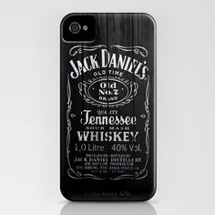 Jack Daniels iPhone case! Now only if it was JD and Camo!!
