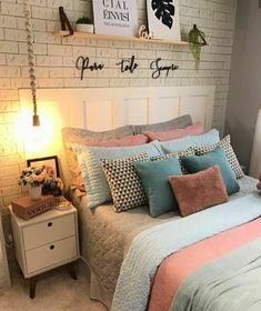 Girly Bedroom Decor, Room Design Bedroom, Room Ideas Bedroom, Home Room Design, Home Design Decor, Small Room Bedroom, Cozy Room, Room Inspiration, Decoration