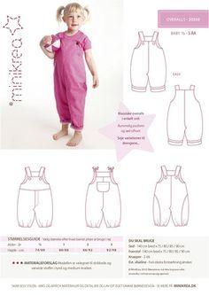 Overalls - 20350 - Minikrea sewing pattern - 6mo-3yr | Simplifi Fabric