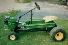There are several kinds of lawn mowers, such as the reel, rotary, and robotic lawn mowers, all which function to trim your grass. Yard Tractors, Tractor Mower, John Deere Tractors, John Deere Toys, Radio Flyer Wagons, Little Red Wagon, John Deere Equipment, Tractor Implements, Riding Lawn Mowers