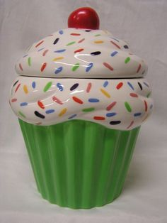 Glazed Rainbow Sprinkles Spring Cupcake Jar by whitedovecrafts, $16.00  Spring has sprung with this one.  Make a cupcake lover or kitchen  happy today.