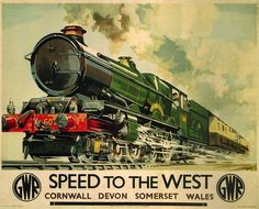 GWR Poster - Speed to the West 1939