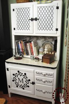 Design idea for my china cabinet I'm about to restore. No initial though