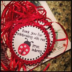 Ladybug Birthday Favor Tags set of 15 by KrisLynnCraftery on Etsy, $15.00