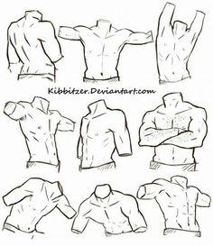 Human Figure Drawing Reference Male Torso Reference Sheet by Kibbitzer on - Human Figure Drawing, Figure Drawing Reference, Body Drawing, Anatomy Drawing, Art Reference Poses, Anatomy Reference, Drawing Tips, Drawing Tutorials, Anatomy Art