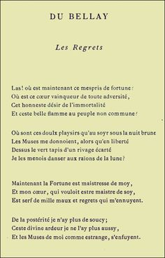 Du Bellay - Les Regr