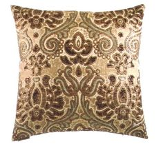 """Kristin damask multi color pattern throw pillow with a feather/down insert and zippered removable cover. These pillows feature a zippered removable 24"""" x 24"""" cover with a Feather / Down insert. Measures 24"""" x 24"""" . These are custom made in the U.S.A. and take 4- 6 weeks lead time for production."""