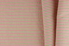 Britex Fabrics -  Mock Seersucker Salmon & Sand Striped Cotton - Midweight - Cotton - Fabric