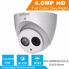 DaHua H.265 4MP IP Camera IPC-HDW4431C-A POE Network IR Mini Dome IP Camera With Built-in Micro Full HD 1080P 4MP CCTV Camera (32792033756)  SEE MORE  #SuperDeals