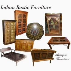 Indian Wooden Furnitures: Indian Hand Carved Rustic Furniture