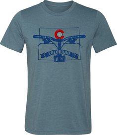 Mountain Bike T-shirtRide ColoradoBicycle T-shirt by SpokeNwheelz Fat Bike efb52c67c