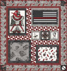 Star Blocks, Quilt Blocks, Quilting Projects, Sewing Projects, Sewing Ideas, Fireman Quilt, Quilt Patterns Free, Pattern Paper, Baby Quilts