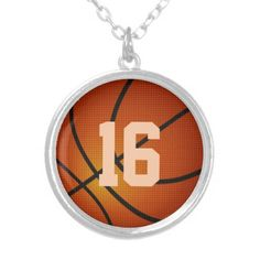 """Basketball  Necklaces for Girls Type """"Your NUMBER"""".  Basketball Stuff With many being Customizable with YOUR NAME and or NUMBER.  Lots more Custom and Personalized Basketball Gifts  CLICK HERE: http://www.zazzle.com/littlelindapinda/gifts?cg=196808750908670951&rf=238147997806552929*/  ALL of Little Linda Pinda Designs  CLICK HERE: http://www.Zazzle.com/LittleLindaPinda*/"""