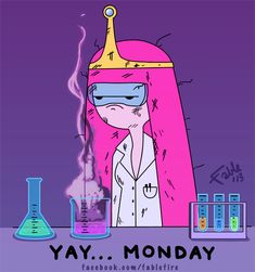 Yay Monday, Princess Bubblegum by *fablefire on deviantART