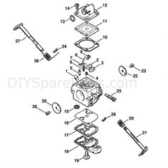 Stihl MS 180 Chainsaw (MS180C-B D) Parts Diagram, Quick
