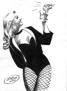 "theimaginauts: ""Black Canary - Art by Steve Rude "" Comic Book Heroes, Golden Age Comics, Dc Comics Characters, Graphic Novel, Art, Black Canary"