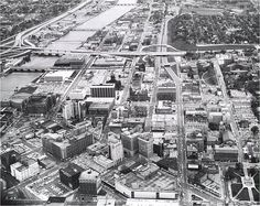Aerial photo of downtown - October 5, 1966