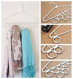 Colgar pañuelos en el armario