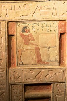 Two newfound ancient Egyptian tombs built for father and son boast false doors, boldly painted portals to the afterlife. Ancient Egyptian Tombs, Ancient Egyptian Religion, Ancient Egypt History, Egyptian Art, Ancient Artifacts, Cairo, Monuments, Egyptian Furniture, Statues