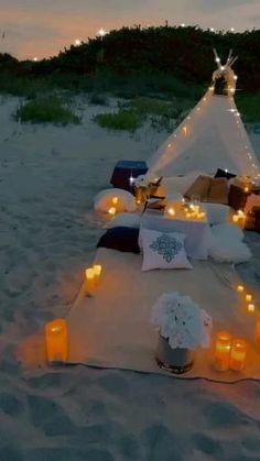 Romantic Date Night Ideas, Romantic Surprise, Romantic Dates, Romantic Picnics, Romantic Beach, Romantic Dinners, Romantic Room Decoration, Romantic Bedroom Decor, Backyard Birthday